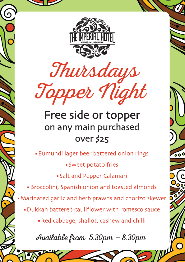 Thursdays Topper Nights