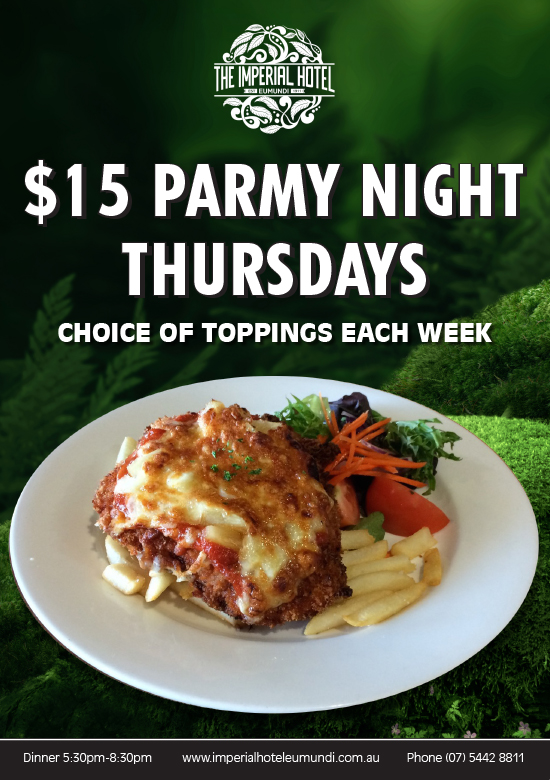 Parmy Poster Thursday