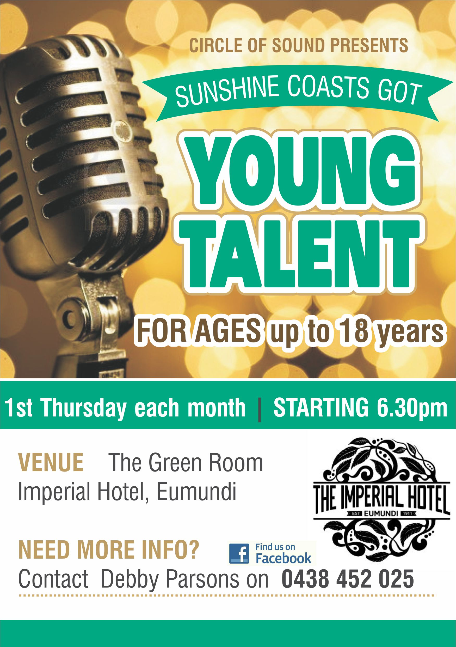 OPEN MIC NIGHT for 7 - 17 year olds