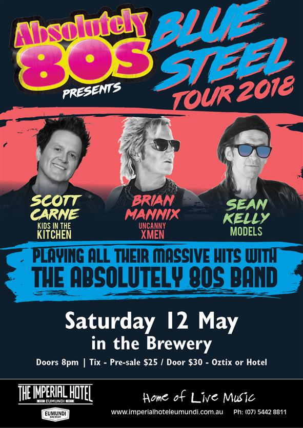 THE ABSOLUTE 80'S BAND, Saturday 12 May, doors 8pm