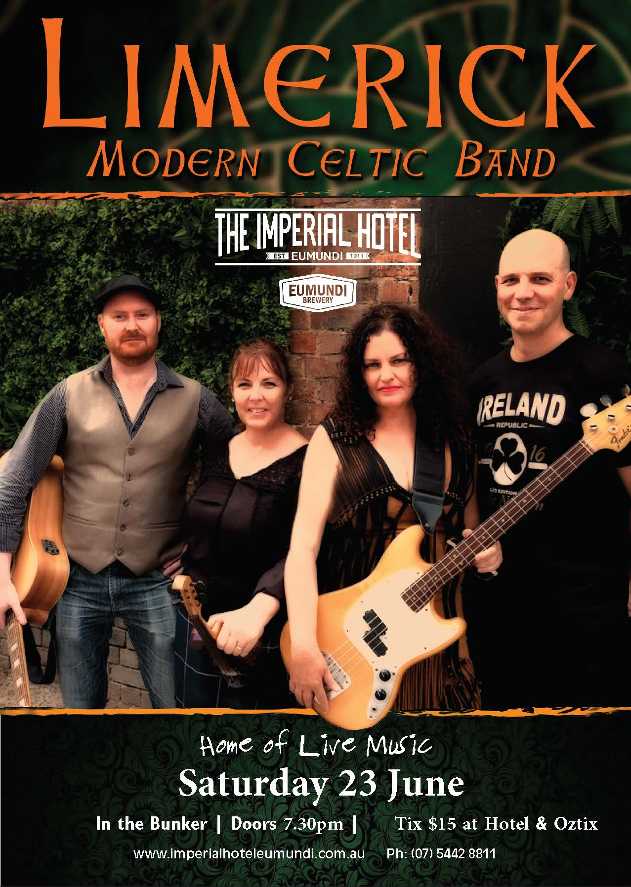 LIMERICK - MODERN CELTIC BAND, Saturday 24 February, doors 8pm